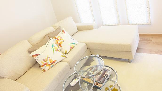 家庭訪問があるため整理整頓された生活空間