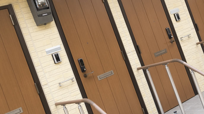 玄関が近い新築の賃貸マンション