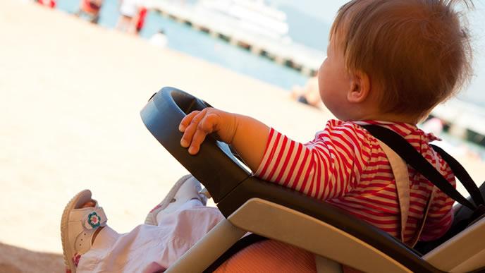 どうしてもベビーカーで移動したい赤ちゃん