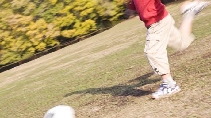 サッカーが大好きな小学生