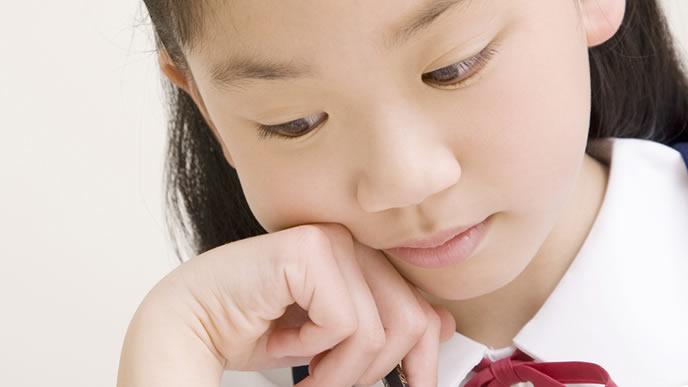 勉強が嫌で学校に行きたくない女の子