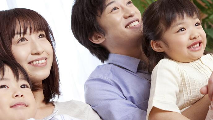 パパと仲良しのママと子供たち