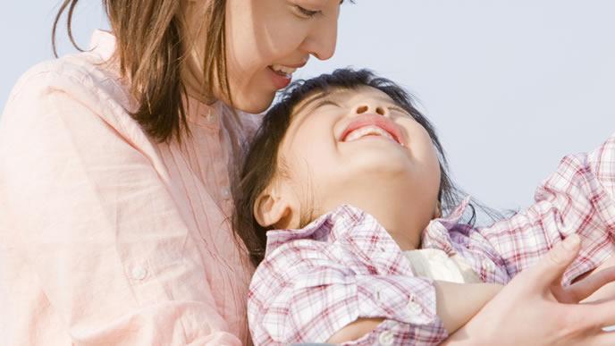 子供を褒めて伸ばすママ