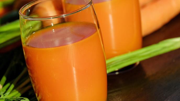 栄養満点のニンジンジュース