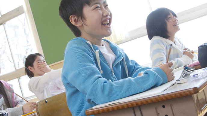 学校が大好きな小学生