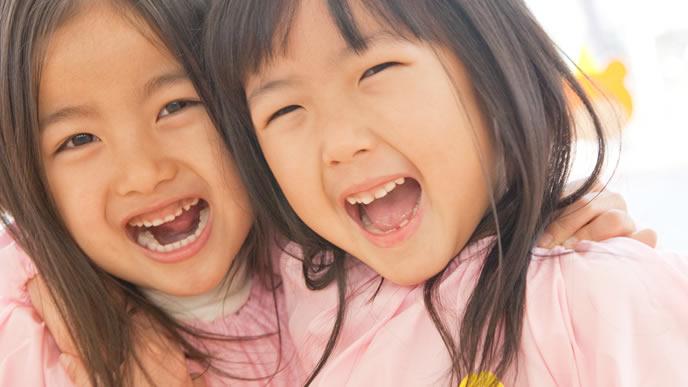 幼稚園の親友との2ショット写真