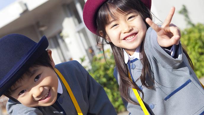 難関幼稚園に入学した姉弟