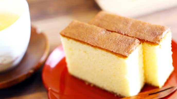 焼き洋菓子のカステラ