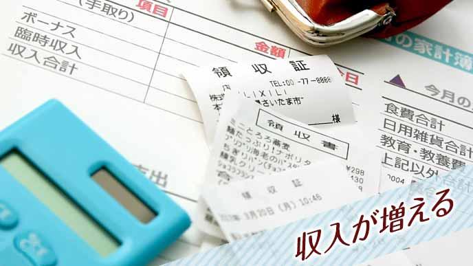 家計簿と領収証