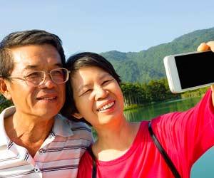 熟年夫婦の旅行