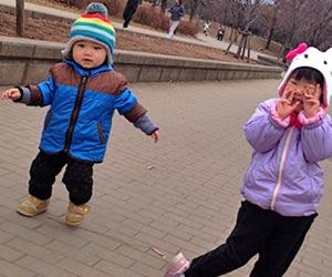 歩く1歳児