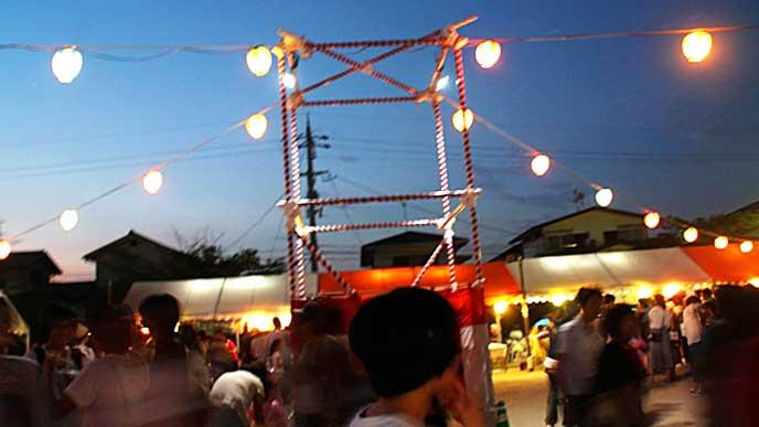 町内会の盆踊り