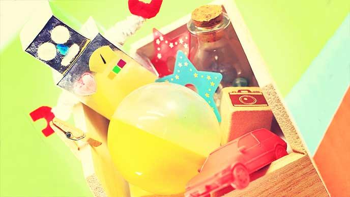 子供が作ったおもちゃ入れボックス