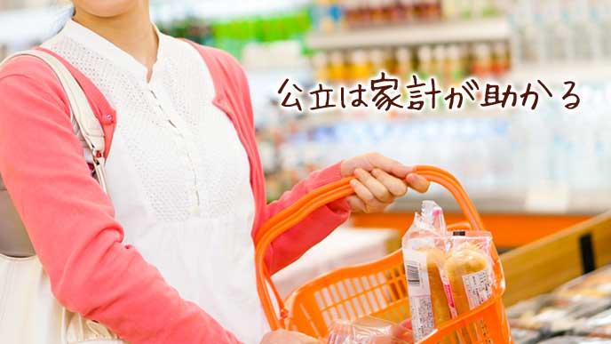 買い物する主婦