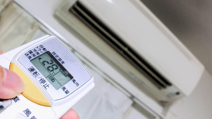 エアコンの温度を設定