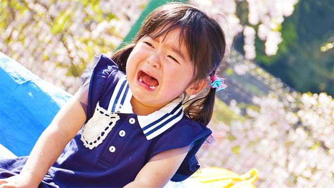 泣いてる女の子