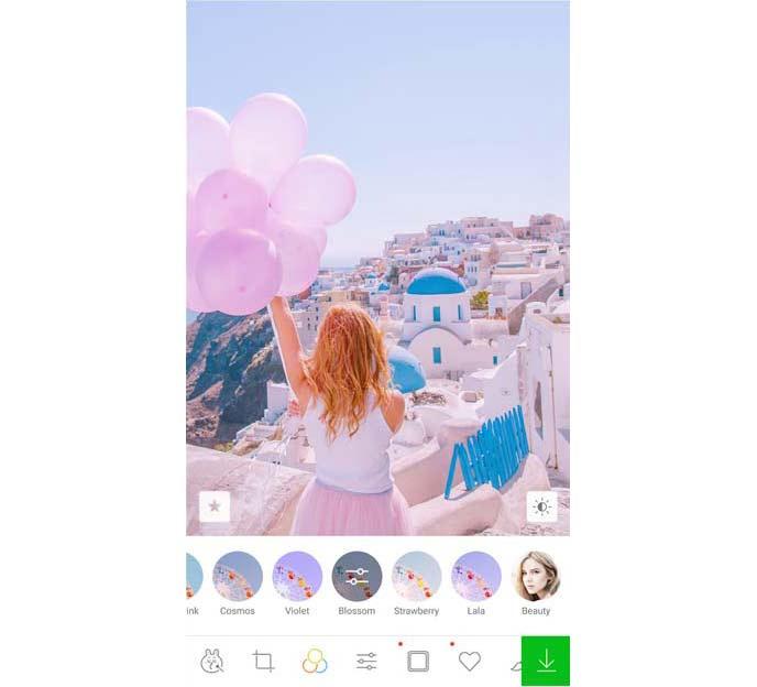 LINE Cameraアプリ画面