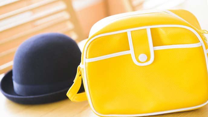 保育園バッグと帽子