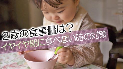 2歳の食事量はどれくらい?イヤイヤ期に食べない時の対策