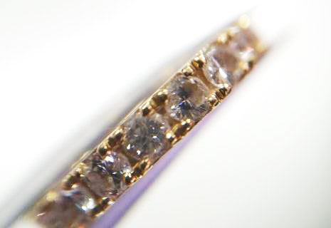 汚れが落ちて綺麗になったダイヤのリング