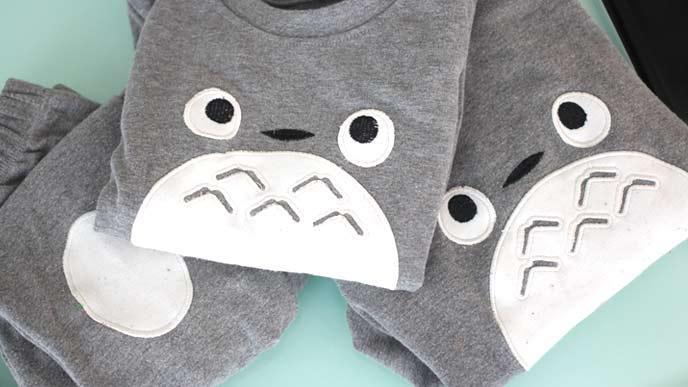 トトロの姉弟用のかわいいパジャマ