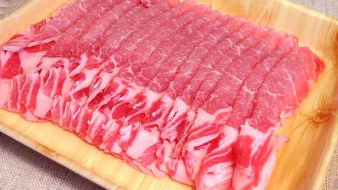 豚のスライス肉