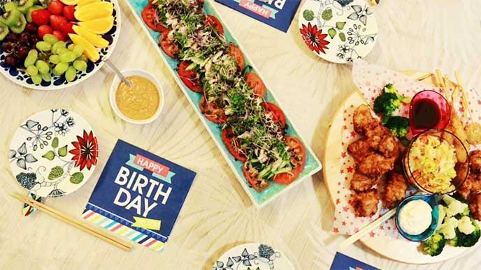 子供の誕生日会料理