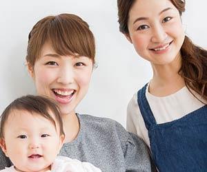 ファミリー・サポートの会員と母子