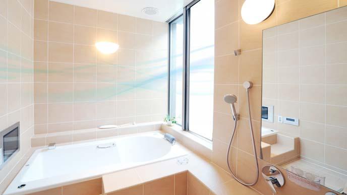 カラッとした風が流れる浴室のイメージ