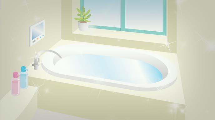 磨き上げられた浴室のイラスト