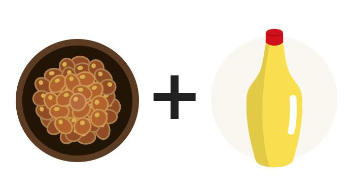 納豆+マヨネーズ