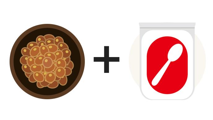 納豆+砂糖