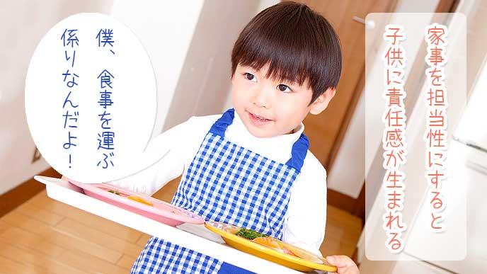 家事を担当性にすると子供に責任感が生まれる