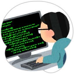 プログラミング中の男性