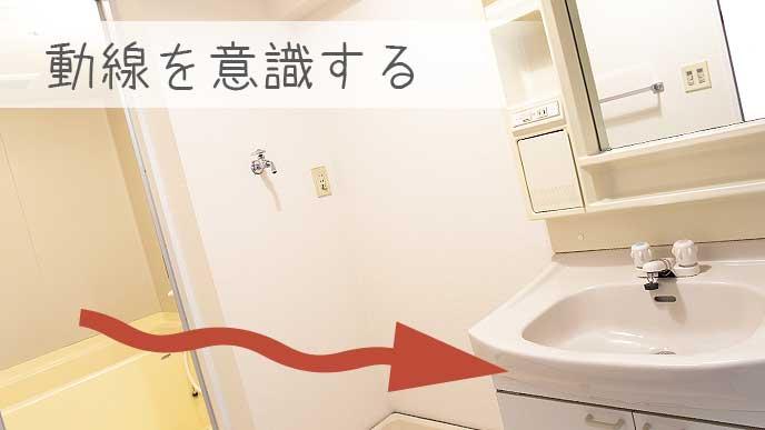 お風呂と洗面所の動線を考える