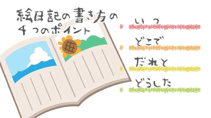 絵日記を書くポイント