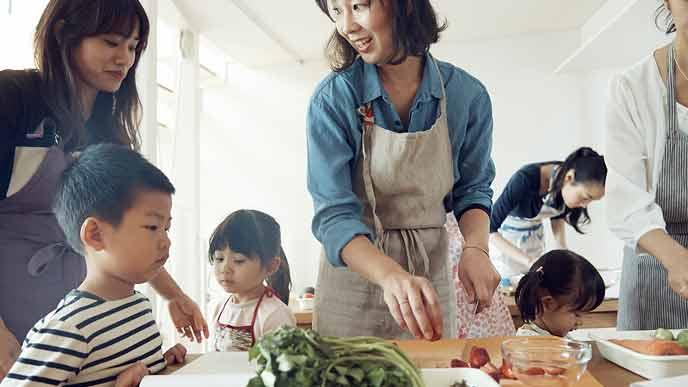親子で料理教室