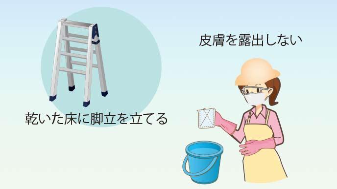 お風呂の天井掃除の服装と準備