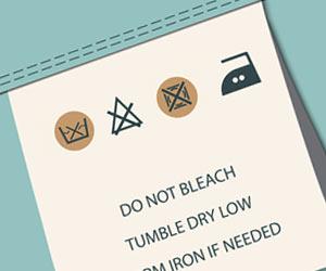 洗濯タグで自家での洗濯禁止