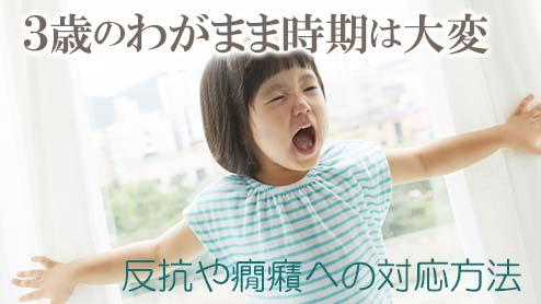 3歳のわがままに笑顔で向き合う!反抗や癇癪への対応方法