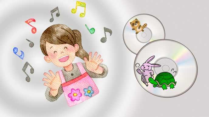 歌うお母さんと童謡のCD