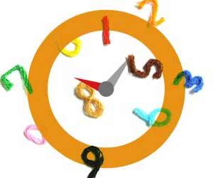時計の文字盤の上で踊る数字