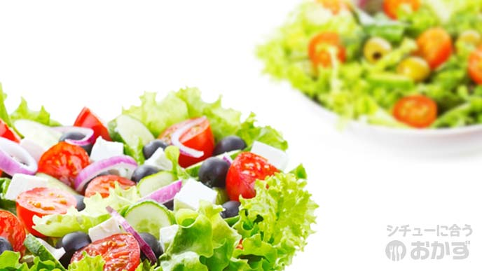 2種類の野菜サラダ