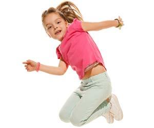 ポニーテールの女の子が踊る