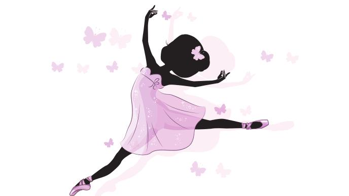 バレエを踊る少女のイラスト
