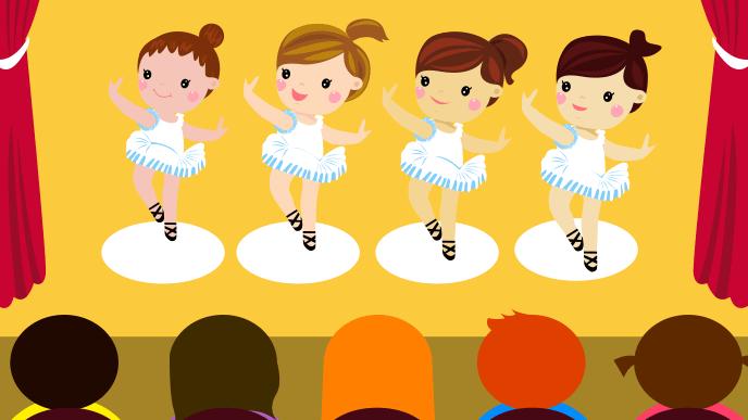 子供のバレエの舞台