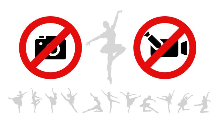 スチルカメラとビデオカメラでの撮影禁止のアイコン