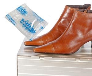 乾燥剤と靴