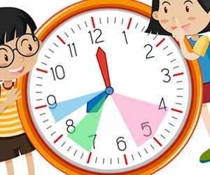 時計に直接色を塗って子供のタイムスケジュール管理