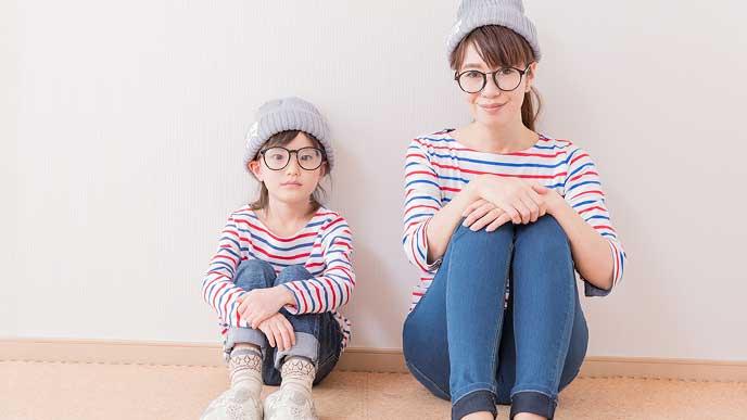 マリンコーデの母と娘